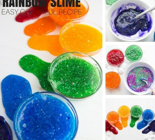 Easy to Make Rainbow Slime Recipe for Amazingly Colorful Homemade Slime