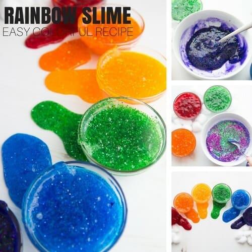 st patricks day activities -rainbow slime