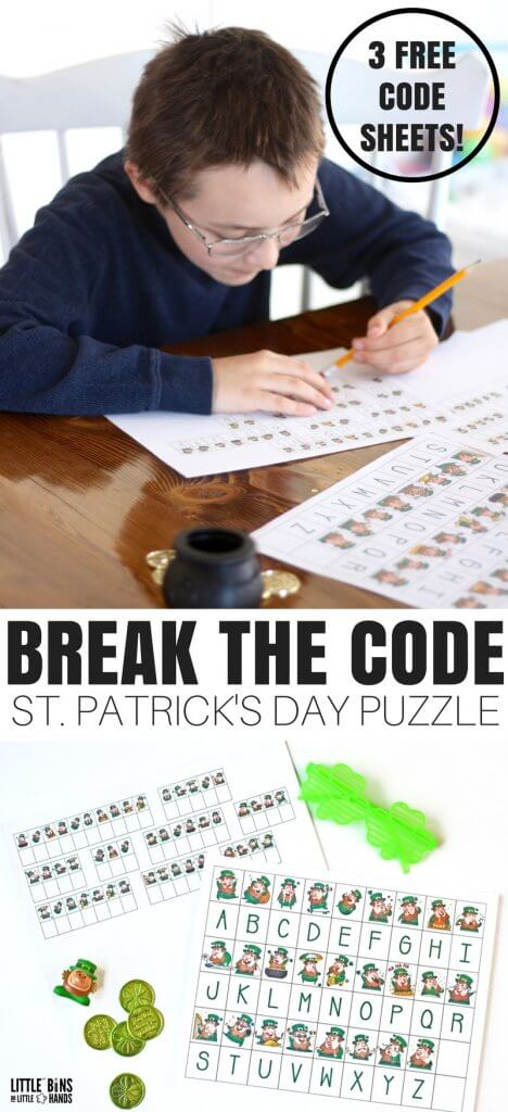 This season we have a couple new kinds of activities to offer that my son loves! Our St Patricks Day Code Breaking activityworksheets are perfect for home or classroom, and the kids will love finding out the secret messages. Solving codes are a neat way to make STEM fun!