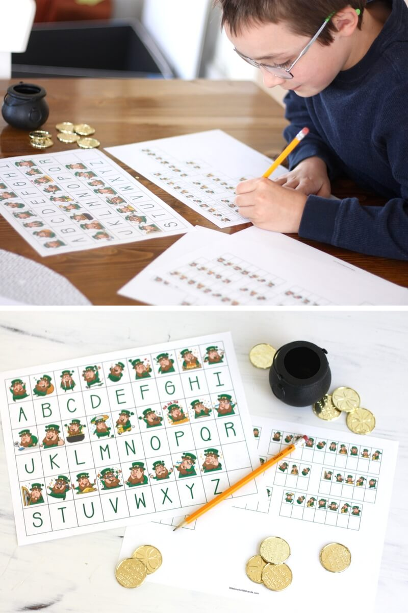 St patricks Day Code Breaking Puzzle Worksheets Free Printable Pack for Kids