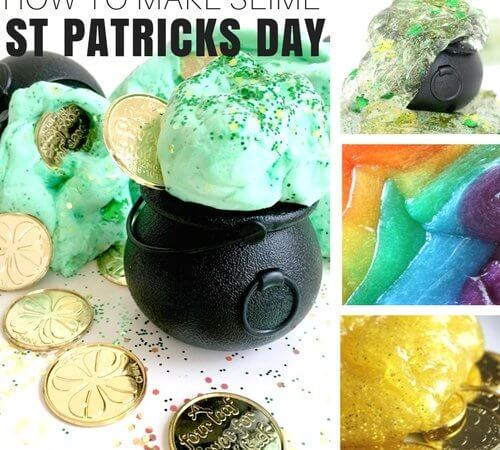 How To Make Slime for St Patricks Day Activities with Kids