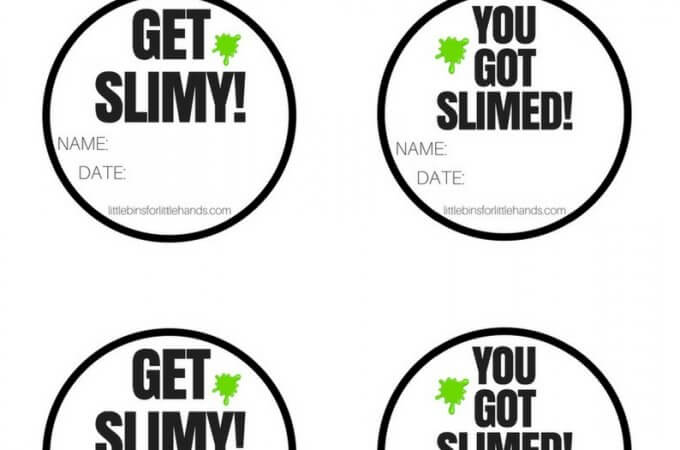 Printable Slime Container Labels