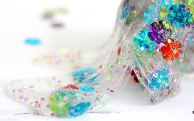 Clear Spring Slime Recipe with Flower Confetti