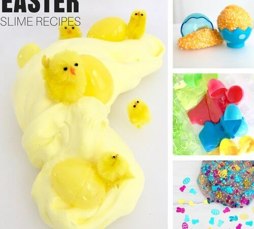 Easter Slime Recipes for Kids Easter Science and Sensory Activities