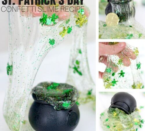 Easy To Make St Patricks Day Slime Recipe with Kids