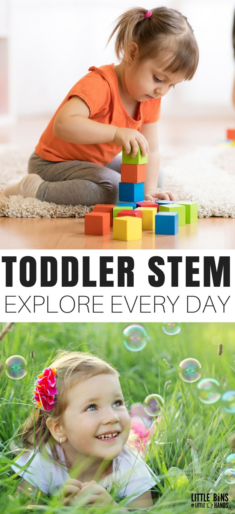 STEM is such a popular topic, and I know all of you are interested in finding ways to incorporate STEM into the every day with multiple ages. The beauty of Toddler STEM activities is that they just seem to happen naturally because kids are so curious. All you need are a few playful science and STEM activities that blend right into what you already do every day!