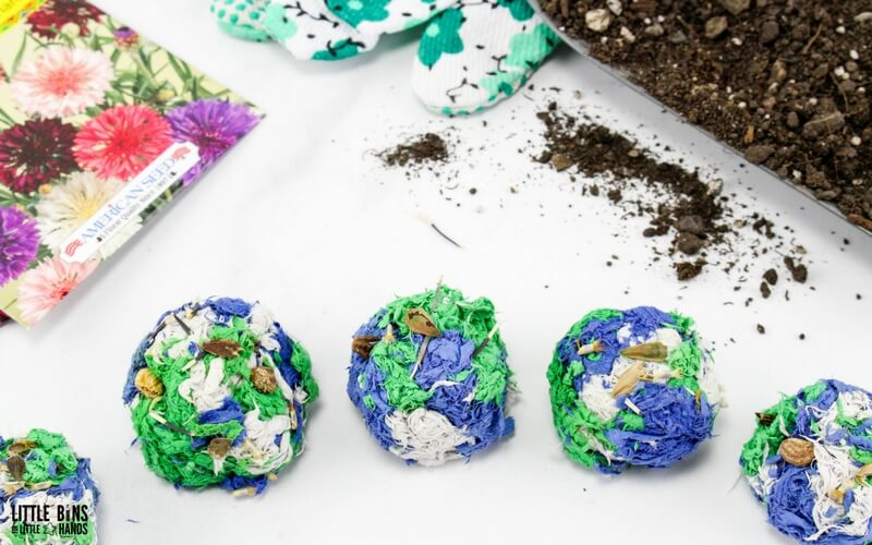 Earth Day Seed Bombs Kids Friendly Recipe