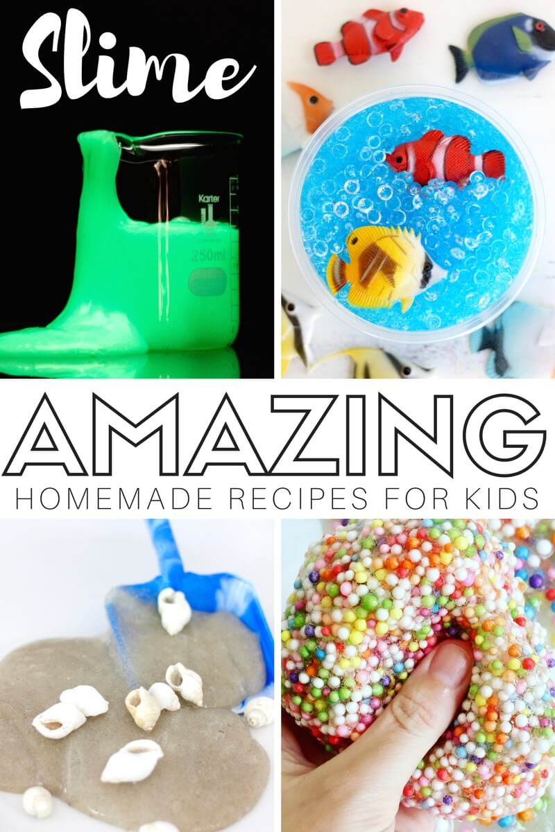 If  you want to make AMAZING slime then you need the BEST SLIME RECIPES to do it! We know slime, and we know kids want to make slime that stretches, oozes, crunches, glows, and even makes those funny farting sounds. I know my son is a big fan of that right now!