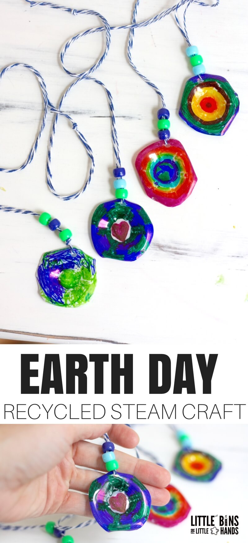 EASY EARTH DAY RECYCLED STEM CRAFT ACTIVITY
