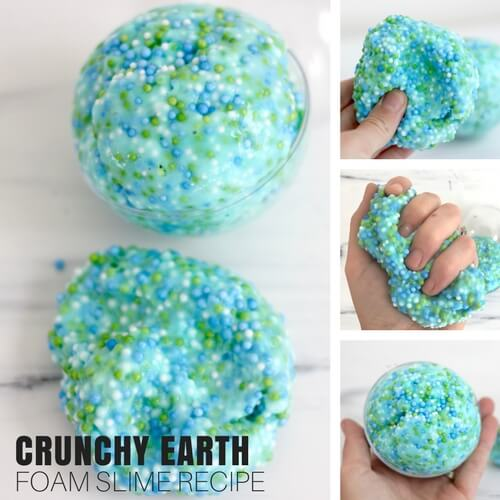 Make Earth Day Slime Recipes : Crunchy Floam Slime Recipe