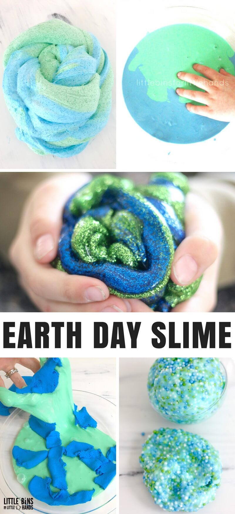 Learn how to make Earth Day slime recipe ideas quickly and easily with these great homemade slime recipes. We love making slime, and want to show you how to make the best slime ever. If you want to try a little something different this Earth Day after spring clean ups and starting seeds, try a theme slime!