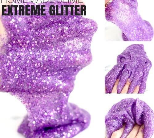 How To Make Glitter Slime with Kids