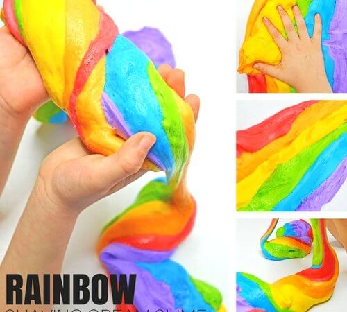 Rainbow Shaving Cream Slime