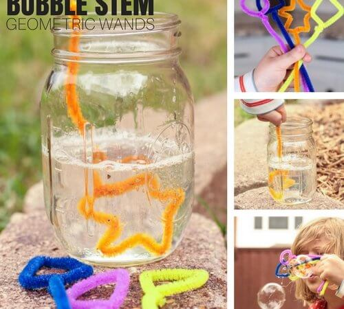 Geometric Bubbles STEM Activity and Summer Science