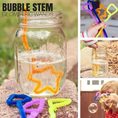Fun Summer Stem Activities: Geometric Bubble STEM Activity For Kids Summer Science