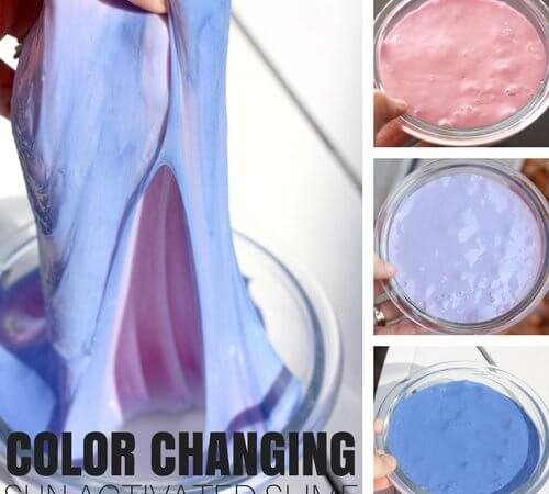 Color Changing Slime Recipe That's Sun Activated (Summer Science)!