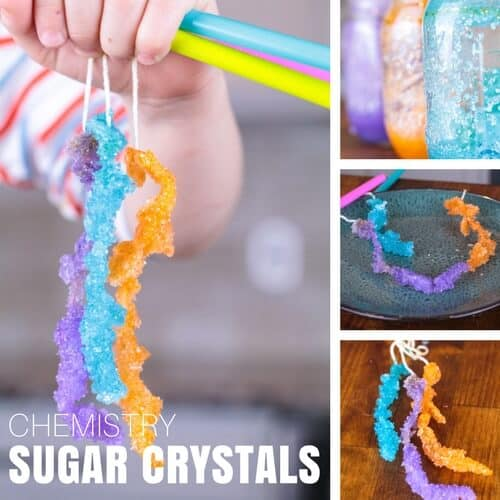 edible science for kids with growing sugar crystals
