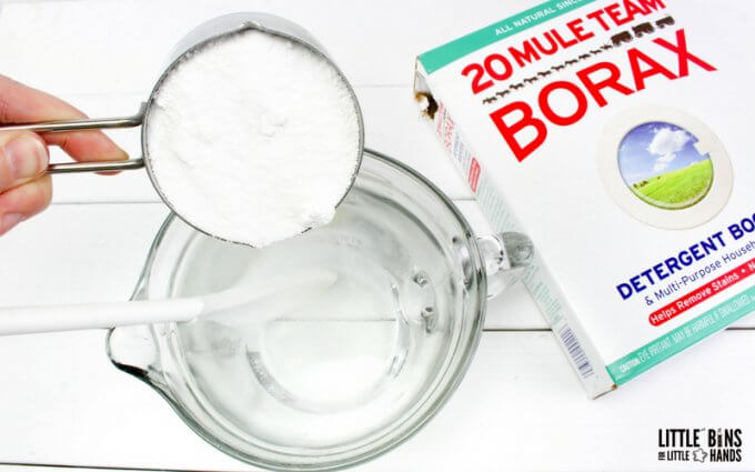 making borax saturated solution for crystal chemistry
