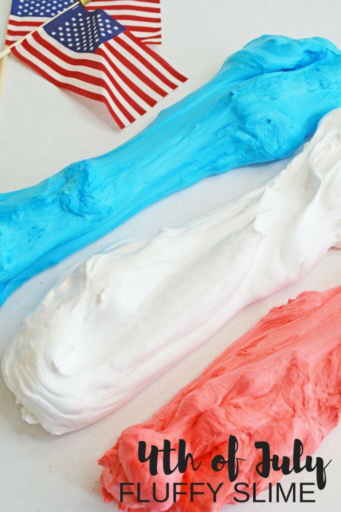 Recreate the red, white, and blue using our BEST 4th of July fluffy slime recipe with shaving cream! Easy slime recipes using simple slime ingredients for awesome summer science and sensory play. We show you how to make slime the right way with the right slime ingredients. You will conquer your slime making with our basic homemade slime recipes.