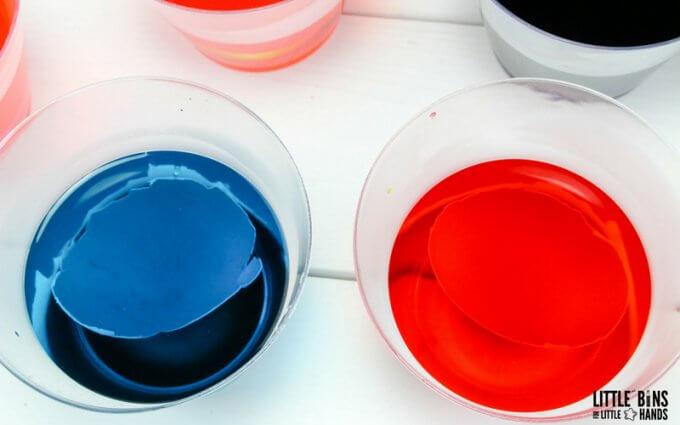 eggshells in borax solution for eggshell geode experiment