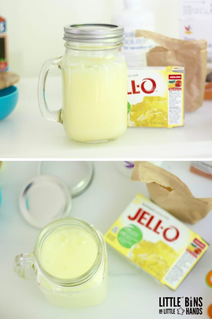 Lemonade Slime for an Easy Scented Slime Recipe with Jello
