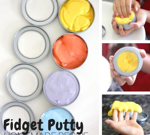 Make Your Own Homemade Fidget Putty Recipe for Kids!
