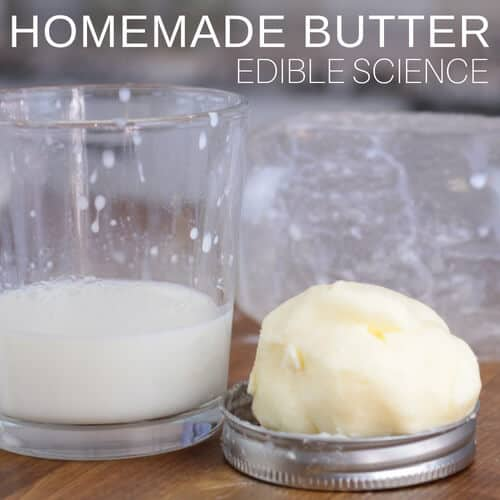 Homemade butter edible science for kids