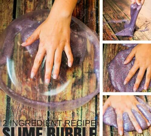 2 Ingredient Slime Recipe for Making Slime Bubbles