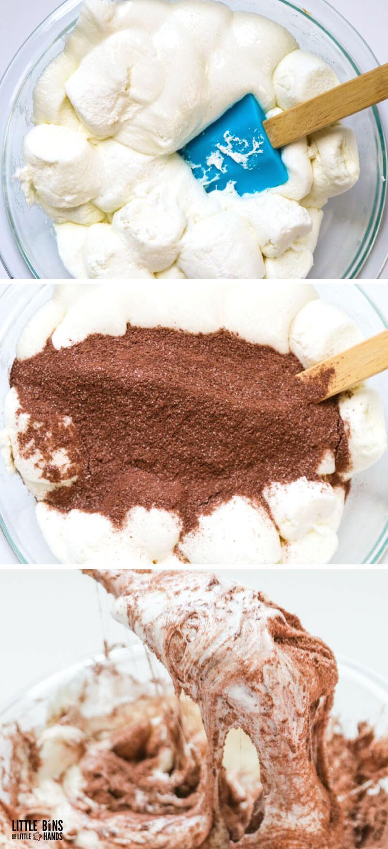 edible chocolate slime tutorial with 3 ingredient edible chocolate slime recipe