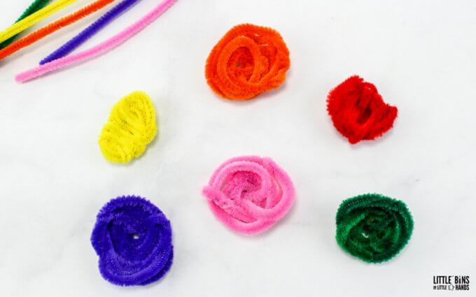 rainbow pipe cleaner nests for growing large borax crystals