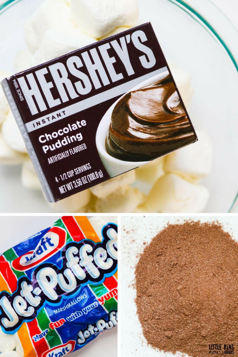 edible chocolate slime ingredients