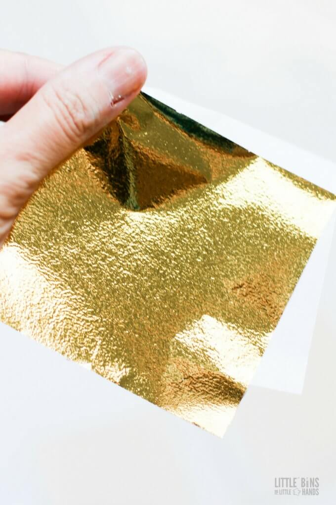 gold leaf slime foil sheets for adding to clear glue slime recipe