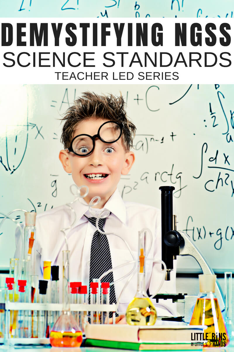 Demystifying NGSS science standards and understand the Next Generation Science Standards and how they work in your classroom. This series will guide you through getting more familiar and comfortable with the NGSS standards and help you feel more confident implementing in your own classroom. Share hands on learning and STEM activities with your students.