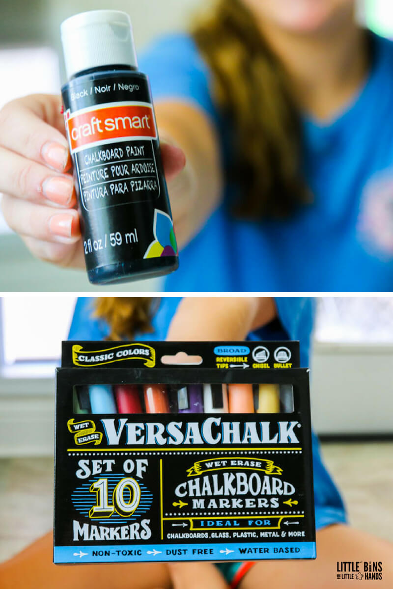 how to make chalkboard slime supplies and ingredients