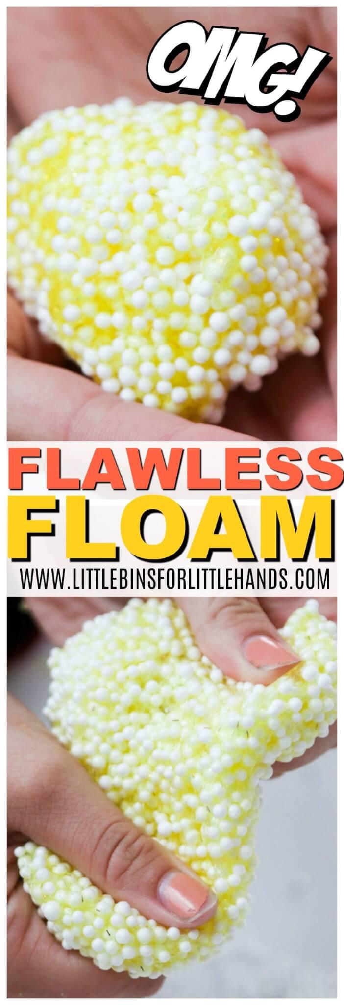 floam - how to make floam with a DIY floam slime recipe