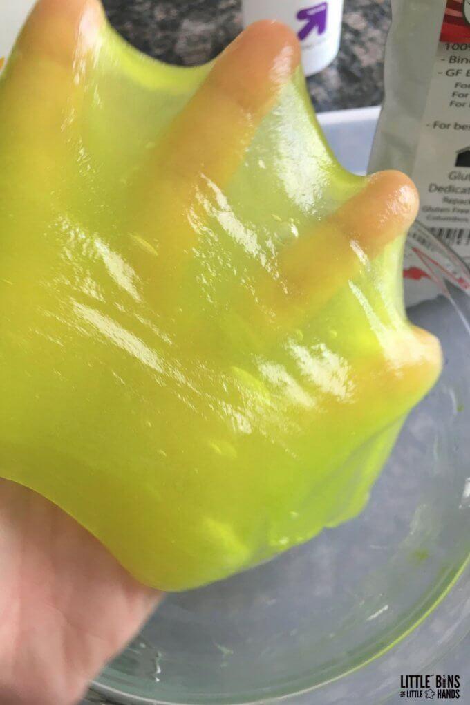 guar gum slime on hand