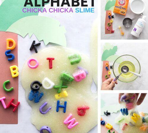 Alphabet Slime Recipe for Chicka Chicka Boom Boom
