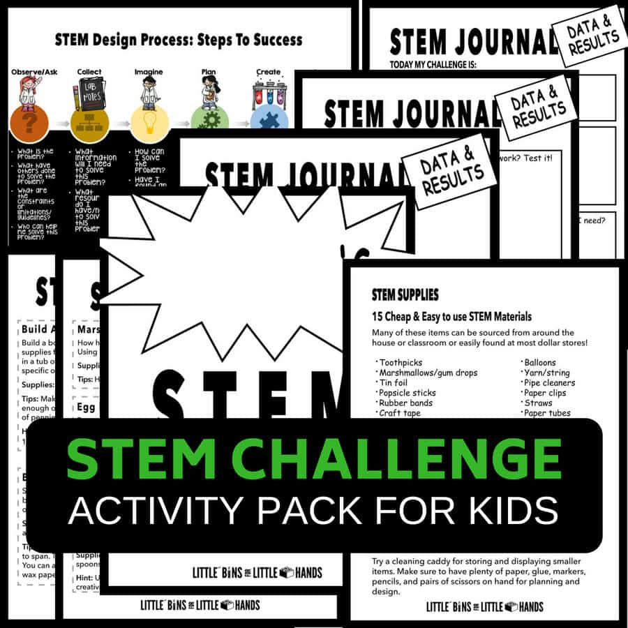 Free Quick STEM Activities Printable Pack
