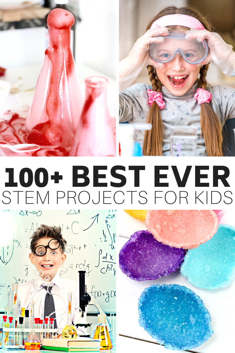 STEM projects for kids and STEM ideas to keep kids busy all year! Free printable STEM activities pack.