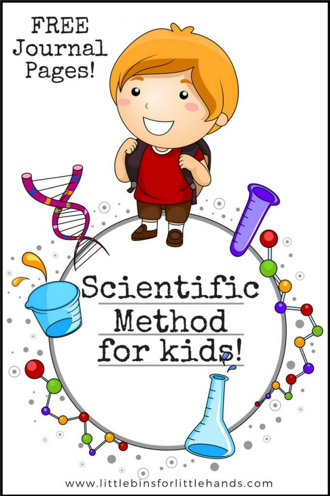 Using scientific method or science process with kids. Free science journal pages