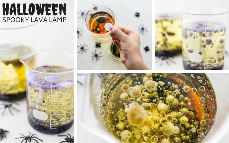 Halloween Science Experiment Lava Lamp