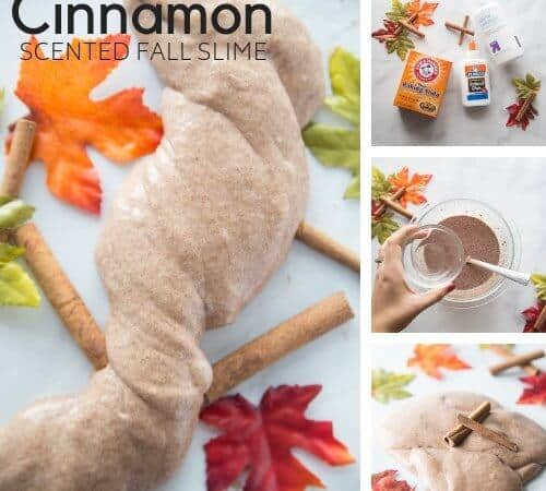 Cinnamon Scented Slime Recipe for Easy Fall Slime Making