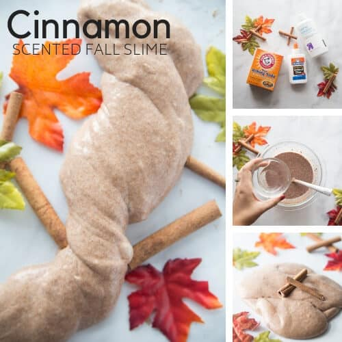fall slime recipe with cinnamon scented slime