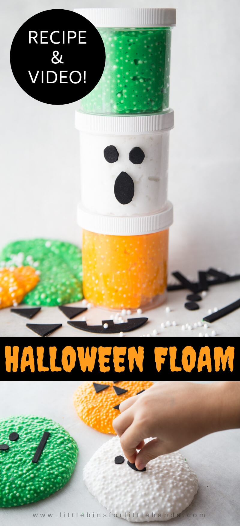 Halloween Floam for Kids Halloween Activity and Candy Free Halloween Treats
