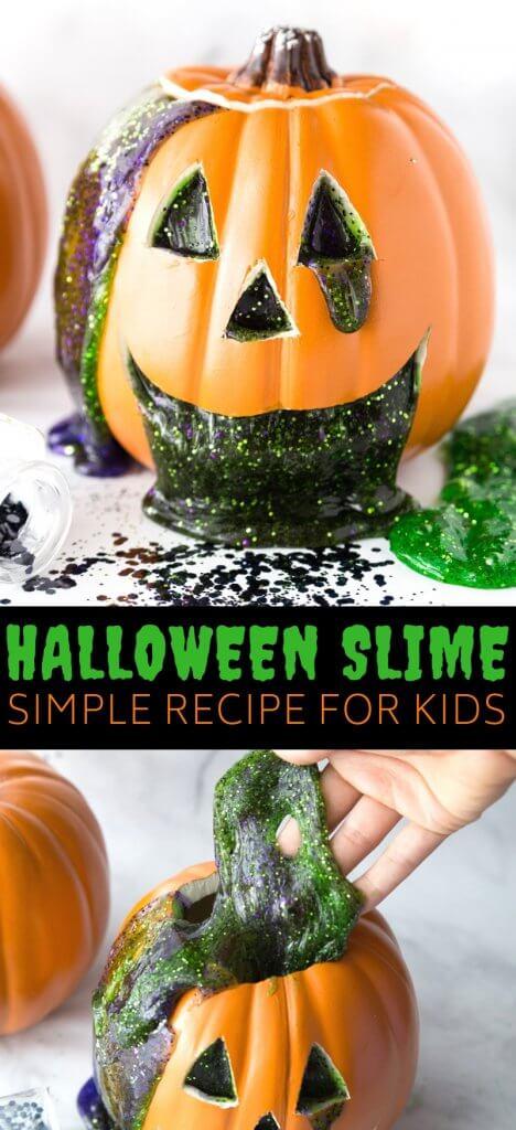 Jack O lantern Halloween Slime Recipe