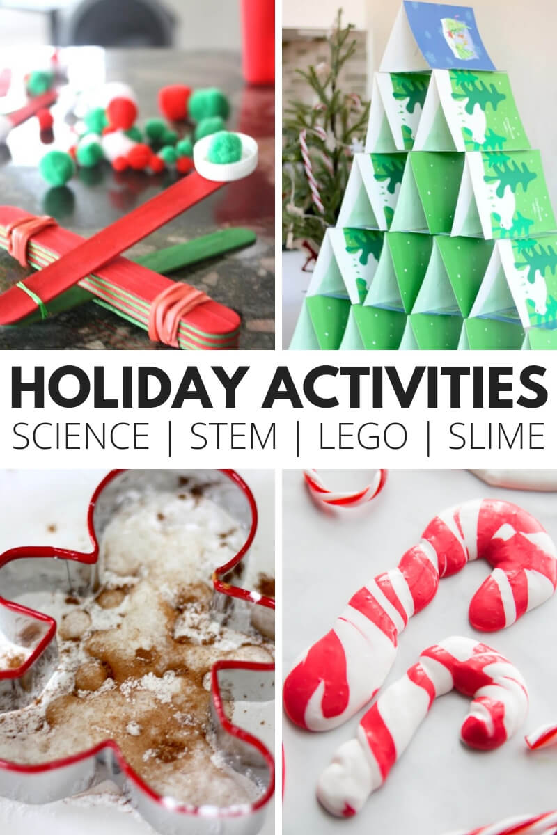Holiday Activities for STEM, Science, Slime, and LEGO