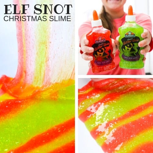 BEST Holiday slimes recipes and STEM activities for Christmas slime making. Make slime for Hanukkah, winter snow activities, and New Years! These are some of the best Christmas slime activities and experiments for kids! #STEM #slime #Christmas
