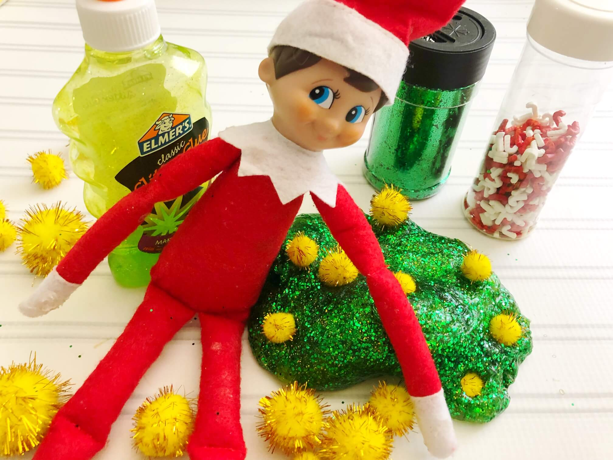 Easy Elf on the Shelf Slime Ideas to try for Christmas