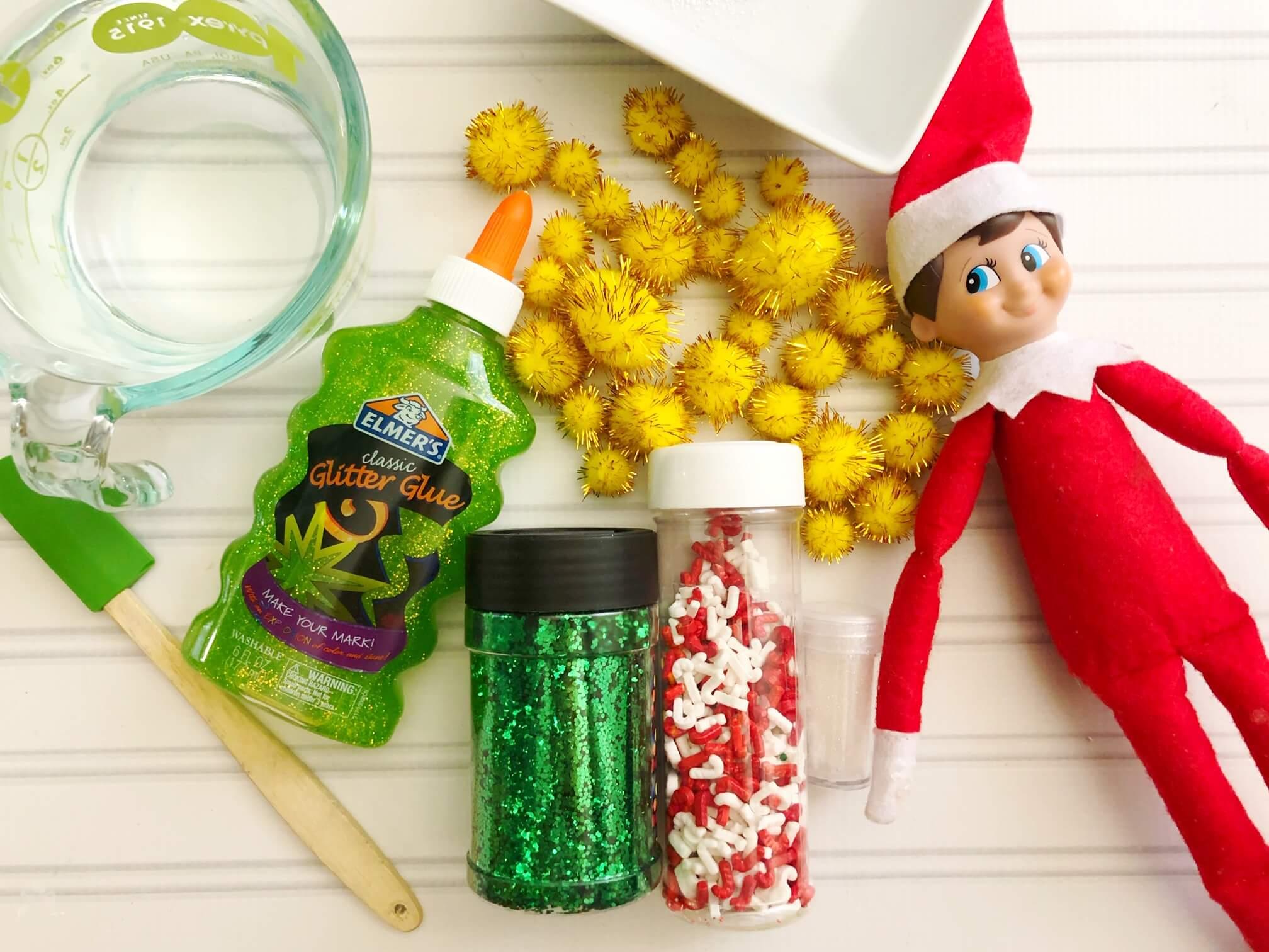 Elf on the Shelf Slime Ingredients for creative Elf on the Shelf set ups
