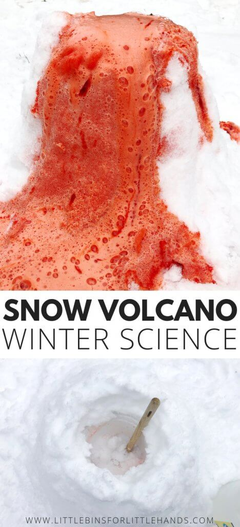 Winter science snow volcano activity